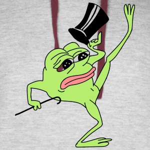 Pepe the Frog dancing sad - Colorblock Hoodie