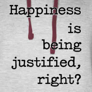 Happiness Is Being Justified, Right? - Colorblock Hoodie