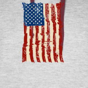 4th of July Independence Celebration American Flag - Colorblock Hoodie