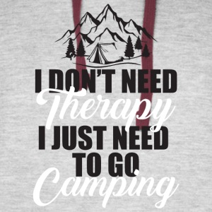 I Just Need To Go Camping T Shirt - Colorblock Hoodie