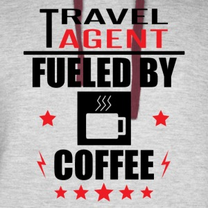 Travel Agent Fueled By Coffee - Colorblock Hoodie