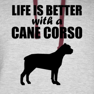 Life Is Better With A Cane Corso - Colorblock Hoodie