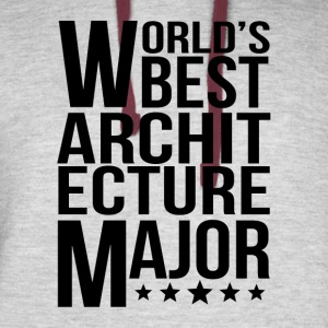 World's Best Architecture Major - Colorblock Hoodie