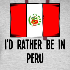 I'd Rather Be In Peru - Colorblock Hoodie