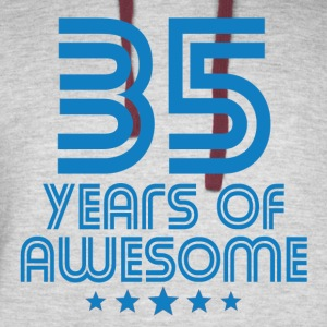 35 Years Of Awesome 35th Birthday - Colorblock Hoodie