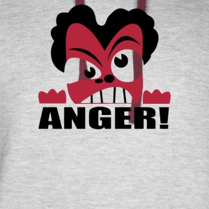 Anger Face - Colorblock Hoodie