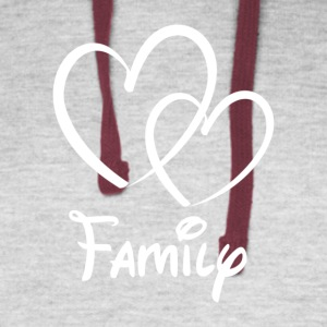 Heart Family - Colorblock Hoodie