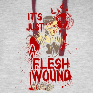 The wounded knight - it's just a flesh wound - Colorblock Hoodie