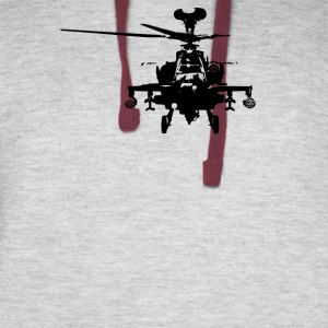Military Attach Helicopter Gunship - Colorblock Hoodie