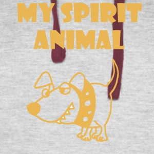 Funny Spirit Animal is a Bad Dog - Colorblock Hoodie