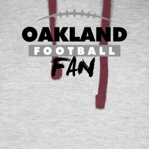 Oakland Football Fan - Colorblock Hoodie