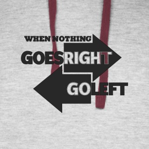 Goes Right Go Left - Colorblock Hoodie