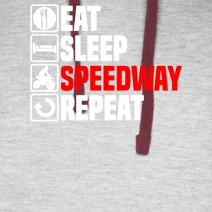 Eat Sleep Speedway - Colorblock Hoodie