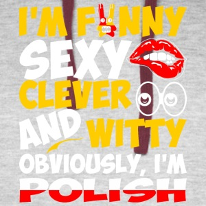 Im Funny Sexy Clever And Witty Im Polish - Colorblock Hoodie