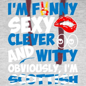 Im Funny Sexy Clever And Witty Im Scottish - Colorblock Hoodie