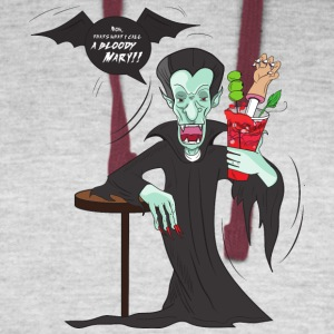 Funny Vampire Bloody Mary - Colorblock Hoodie