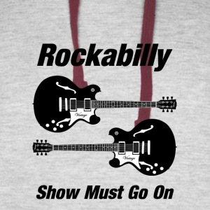 Rockabilly Show Must Go On - Colorblock Hoodie