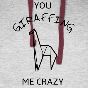 You GIRAFFING me crazy - Colorblock Hoodie