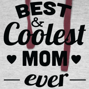 best_and_coolest_mom_ever_black - Colorblock Hoodie