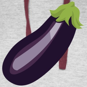 Egg Plant aka Purple Pickle - Colorblock Hoodie