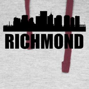 Richmond VA Skyline - Colorblock Hoodie