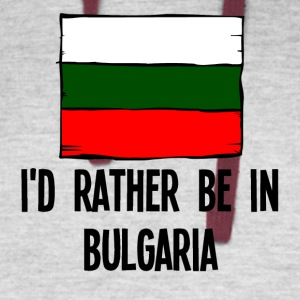 I'd Rather Be In Bulgaria - Colorblock Hoodie