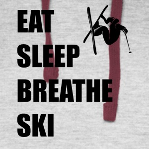 Eat Sleep Breathe Ski - Colorblock Hoodie