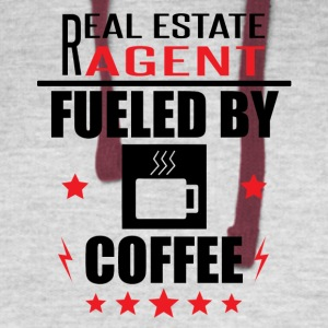 Real Estate Agent Fueled By Coffee - Colorblock Hoodie
