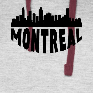 Montreal Canada Cityscape Skyline - Colorblock Hoodie