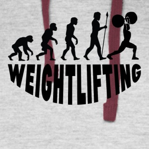 Weightlifting Evolution - Colorblock Hoodie
