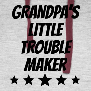 Grandpa's Little Trouble Maker - Colorblock Hoodie