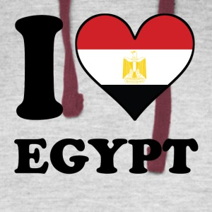 I Love Egypt Egyptian Flag Heart - Colorblock Hoodie