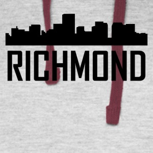 Richmond Virginia City Skyline - Colorblock Hoodie