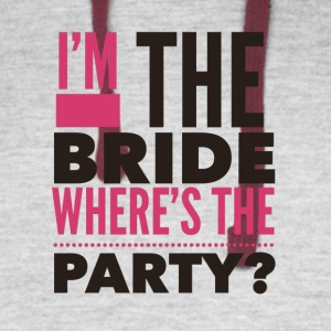 Im the bride where's the Party - Colorblock Hoodie