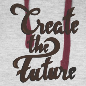 Create the future - Colorblock Hoodie