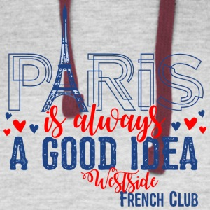 Paris is always A GOOD IDEA Westside French Club - Colorblock Hoodie