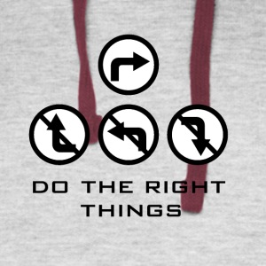 Do the right things - Colorblock Hoodie