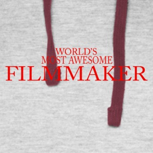 World s most awesome filmmaker - Colorblock Hoodie