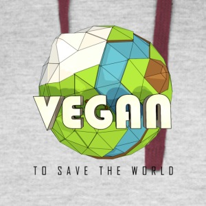 Vegan To Save the World - Colorblock Hoodie
