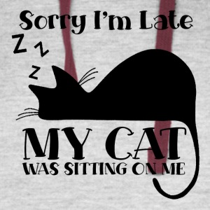 Sorry I´m late - my cat was sitting on me - Colorblock Hoodie