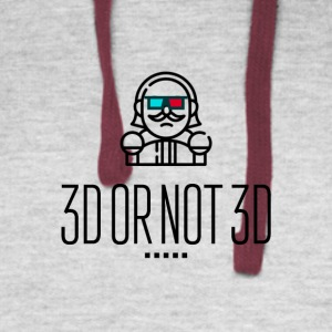 3D or not 3D - Colorblock Hoodie