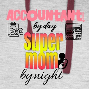 Accountant by day super mom by night - Colorblock Hoodie