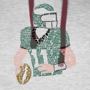 Carson Wentz Eagles Typography Shirt - Colorblock Hoodie