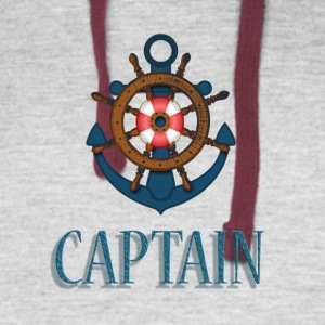 Nautical Captain - Colorblock Hoodie