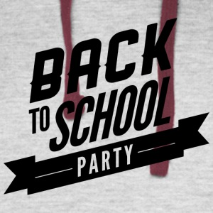 back_to_school_party - Colorblock Hoodie