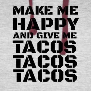 TACOS - make me happy and give me tacos - Colorblock Hoodie