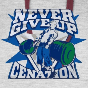 Never giveup cenation - Colorblock Hoodie