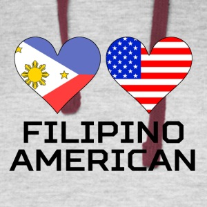 Filipino American Hearts - Colorblock Hoodie
