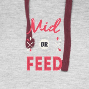 Mid or feed - Colorblock Hoodie