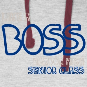 Like A Boss Harbor High Senior Class - Colorblock Hoodie
